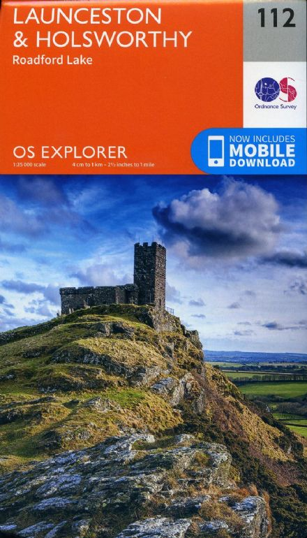 OS Explorer 112 - Launceston & Holsworthy & roadford Lake